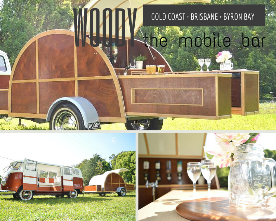 Wood the vintage mobile bar