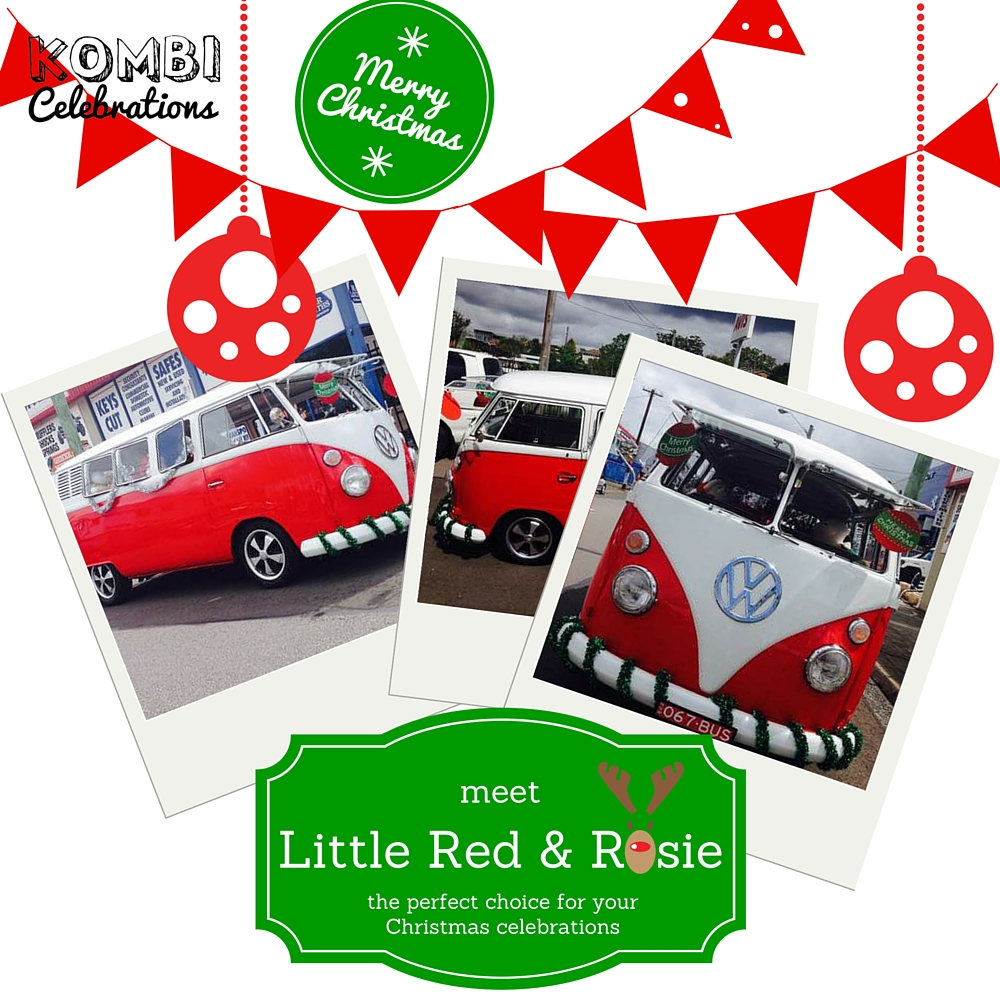 Christmas red kombi