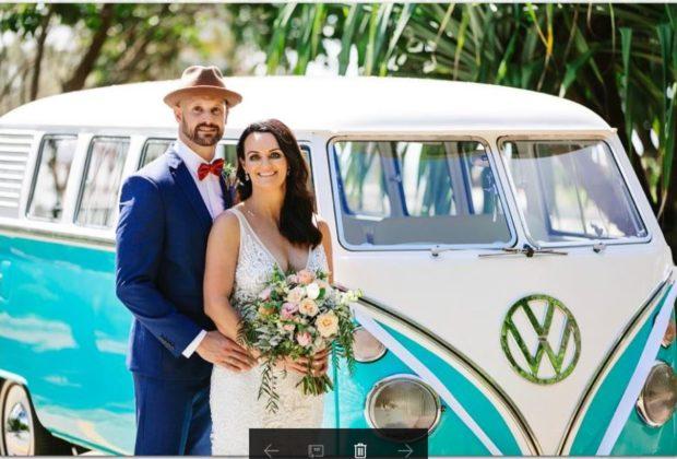 noosa, bride, noosa wedding, hire a kombi noosa